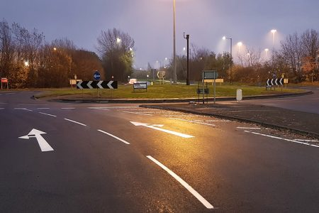Doncaster A6182 Middlebank roundabout re-surfacing scheme